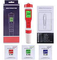 Портативный тестовый ручка 4 в 1, монитор качества воды (PH / TDS/EC/температура) для бассейна, питьевой воды,
