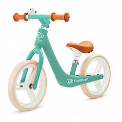 Беговел Kinderkraft FLY PLUS - зелений (Midnight Green) Велобег