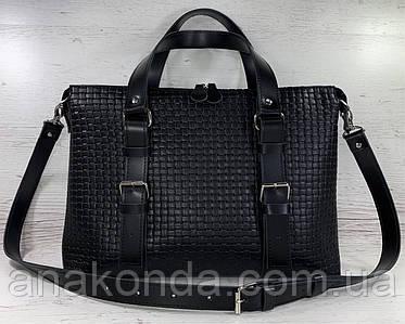 31 Натуральная кожа черная Сумка мужская женская унисекс для ноутбука, черная кожаная сумка с тиснением 3D