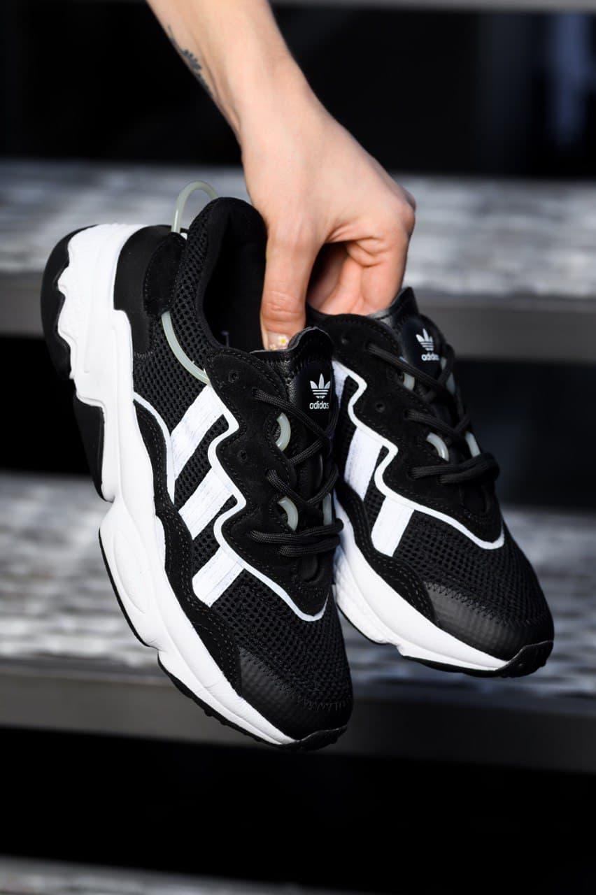 Женские кроссовки Adidas Ozweego,Black Textile