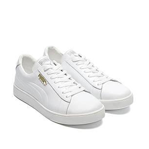 Мужские кожаные кроссовки Пума белого цвета, фото 2