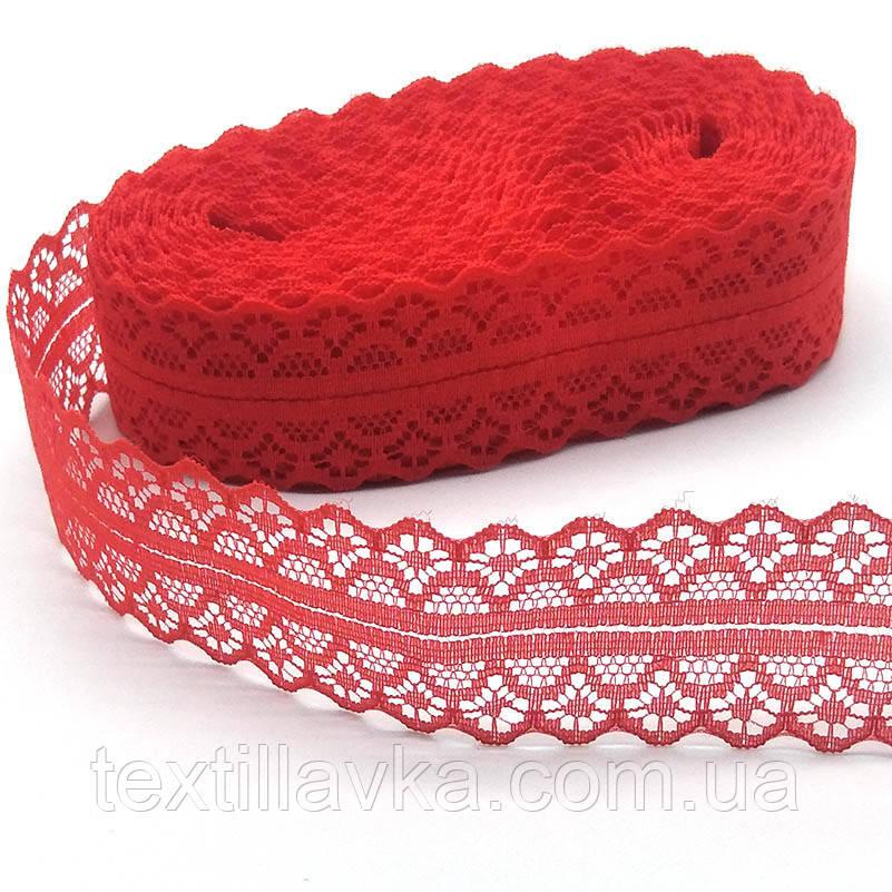Кружево красное 3см