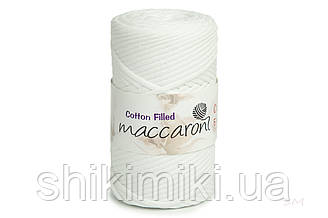 Трикотажный хлопковый шнур Cotton Filled 5 мм, цвет Белый