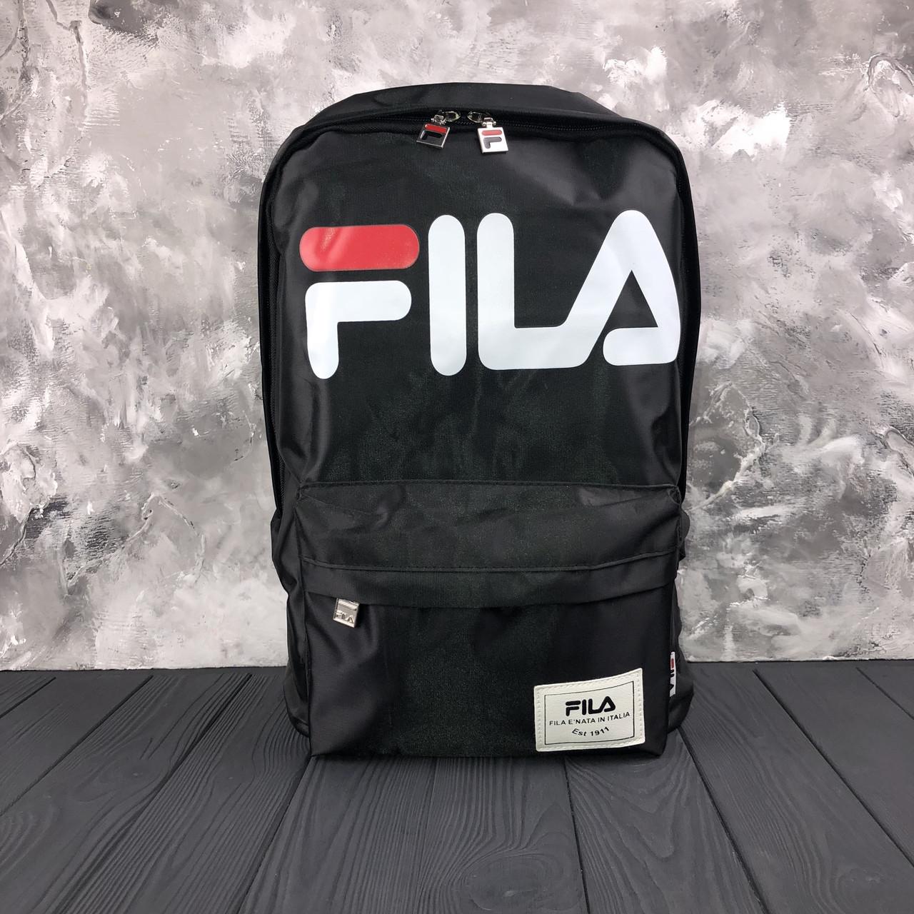 Водонепроницаемый черный спортивный рюкзак Fila