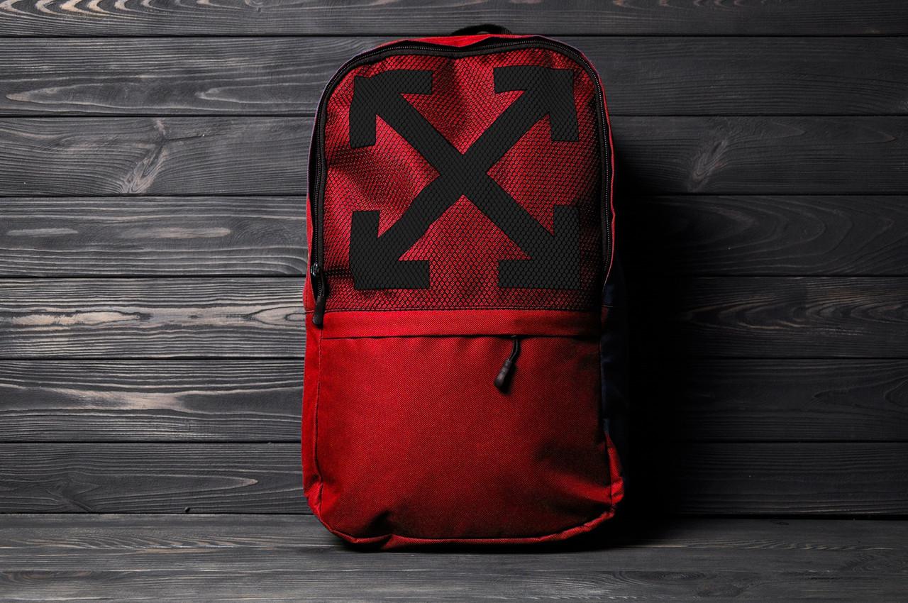 Красный спортивный рюкзак для ноутбука Off White