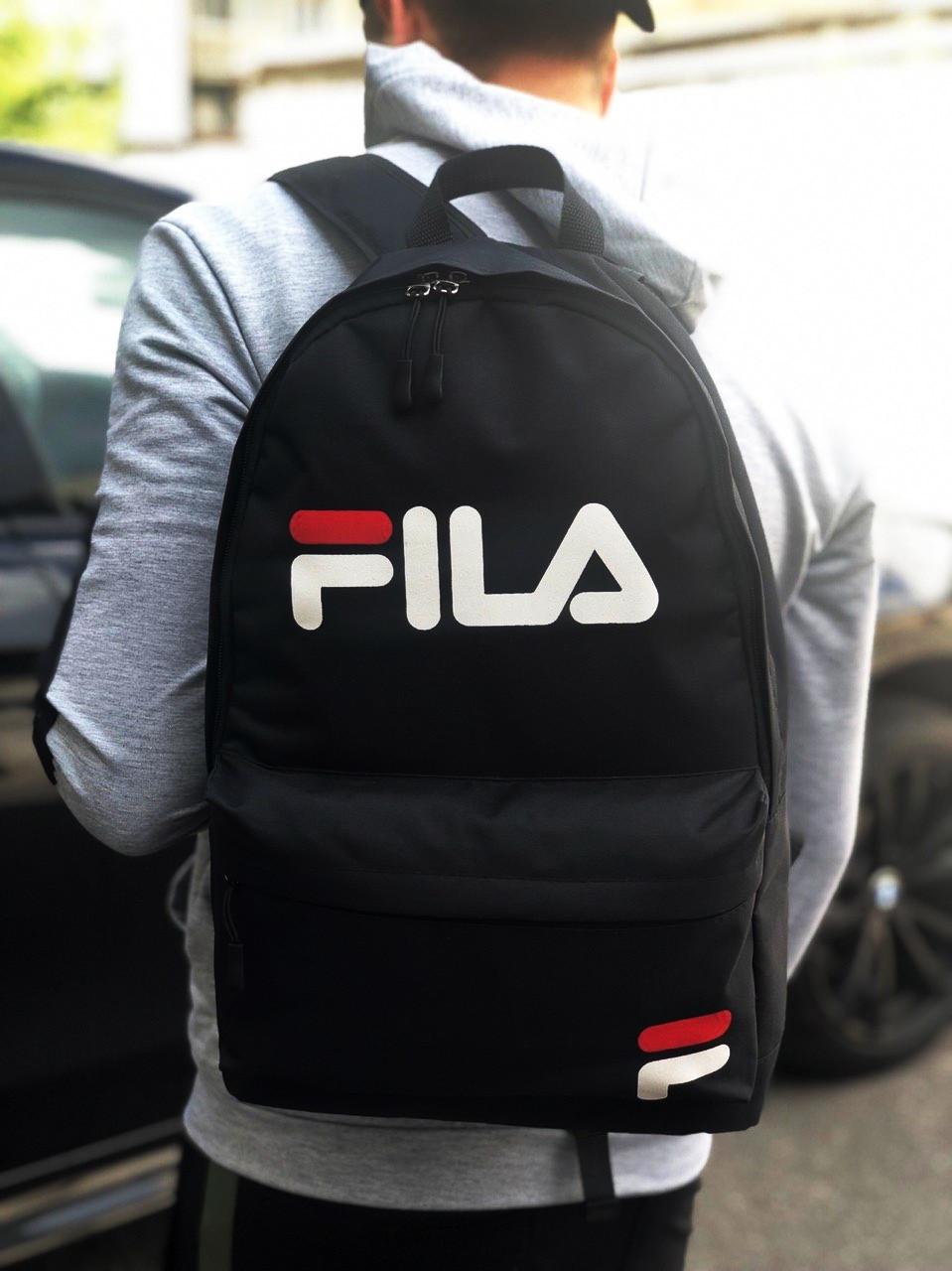Чорний спортивний рюкзак міський Fila