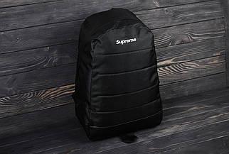 Спортивний чорний місткий рюкзак Supreme