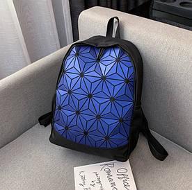 Стильний синій спортивний рюкзак міський