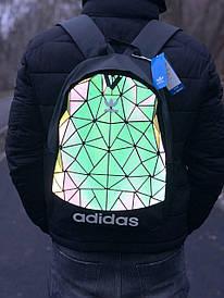 Рефлективний чорний спортивний міський рюкзак Adidas