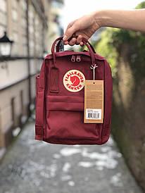 Бордовий міський рюкзак Kanken mini