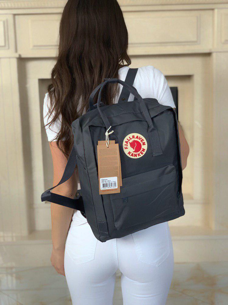 Черный вместительный городской рюкзак Kanken