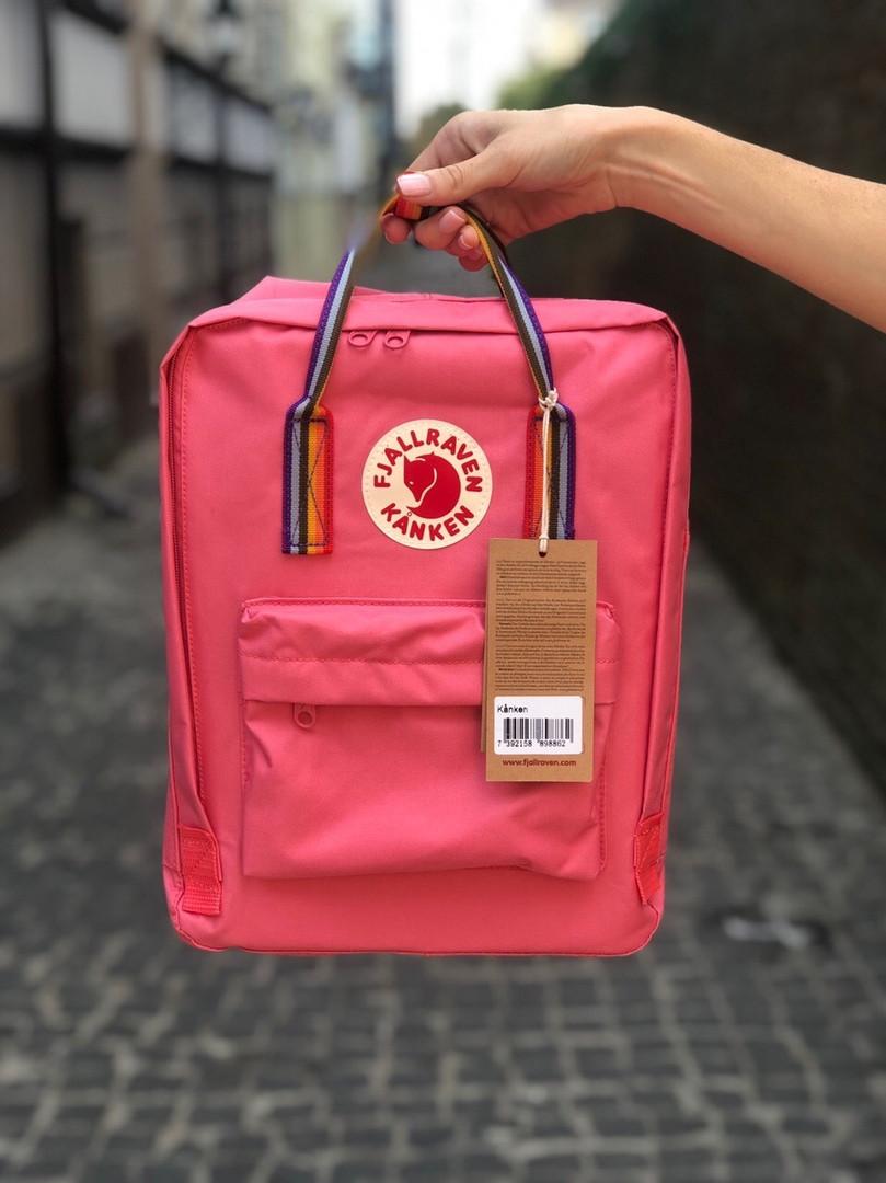 Розовый вместительный городской рюкзак Kanken