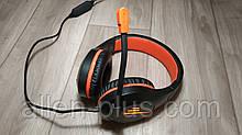 Наушники игровые с микрофоном и подсветкой MeeTion MT-HP021, регулятор громкости, black
