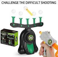 Воздушный тир Hover Shot, Стрельба по парящим шарикам, детская увлекательная игрушка