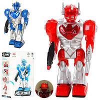 Робот 27162 ходить, 2 кольори, муз., світло, бат., кор., 12,5-22-7 см.