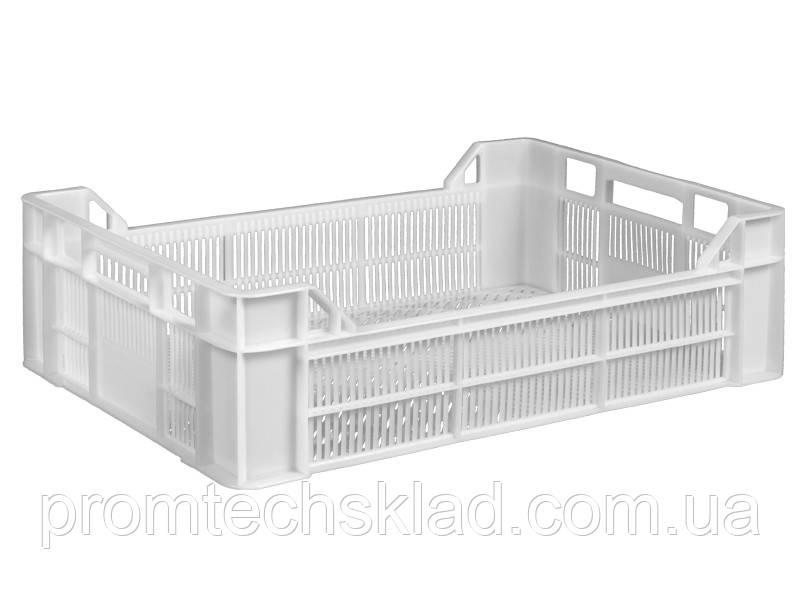 Ящик пластиковый  600х400х170/130 белый