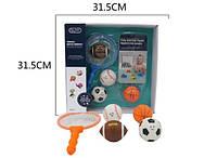 Іграшка G-B026 для купання, сачок, м'яч 4шт., 2кольори, кор., 32-32-7см.