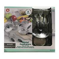 Посуд 86830 каструля, сковорідка, кухонний набір, мет., 8 предметів, кор., 32-28-9 див.