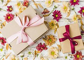 """Пакет для подарка гигант горизонтальный """"Кантри"""" 47х30 см  (6 шт/уп)"""