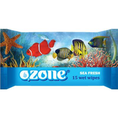 """Волога серветка морська свіжість """"OZONE"""" (15шт)"""