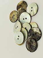 Пуговица  из ракушки 18мм натуральная, для одежды, украшения, поделок.