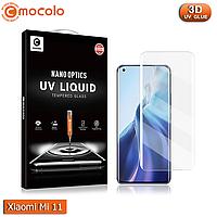 Захисне скло Mocolo Xiaomi Mi 11 Nano Optics UV Liquid Tempered Glass 3D (Clear), фото 1