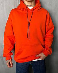 Худі - чоловіча худі стильна / чоловіча худі оверсайз морквяного кольору