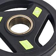 Блины (диски) полиуретановые с хватом и металлической втулкой d-51мм Zelart 2.5-20кг, фото 6