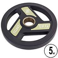 Блины (диски) полиуретановые с хватом и металлической втулкой d-51мм Zelart 2.5-20кг, фото 4