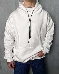 Худі - чоловіча худі стильна / чоловіча худі оверсайз білого кольору