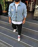 😜 Джинсовка - Мужская куртка джинсовка / стильна чоловіча джинсова куртка оверсайз, фото 5