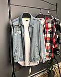 😜 Джинсовка - Мужская куртка джинсовка / стильна чоловіча джинсова куртка оверсайз, фото 3