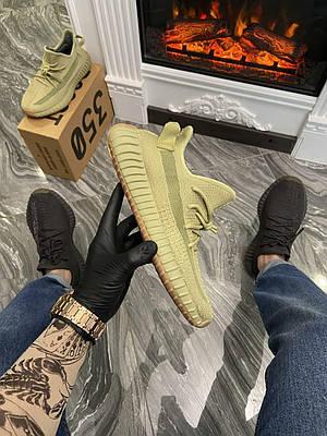 Кроссовки мужские Adidas Yeezy Boost 350 V2, желтого цвета, Адидас Изи Буст 350, кроссовки весна/лето