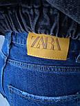 😝 Джинси - широкі Чоловічі Джинси / чоловічі джинси сині з якісного котону ZARA, фото 6
