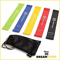 Ленты сопротивления, набор фитнес резинок 5 шт разного уровня сложности. резинка эластичная для спорта