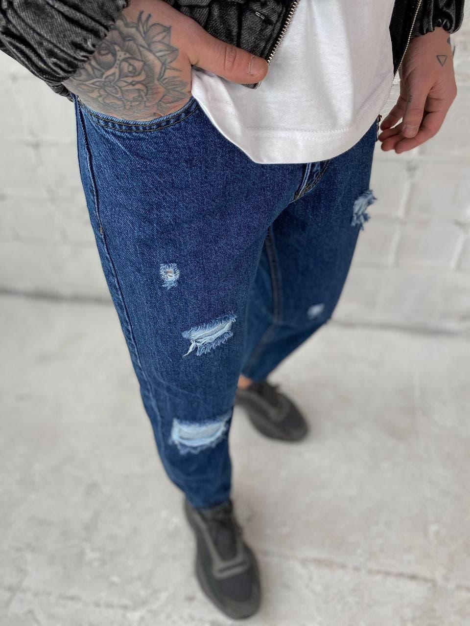 😝 Джинсы - Мужские широкие Джинсы / чоловічі джинси сині з якісного коттону ZARA