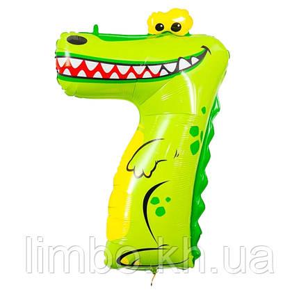 Шарик цифра 7 Крокодил, фото 2