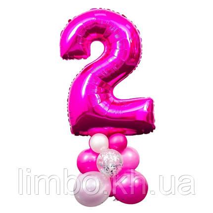 Фольгированные цифры на  подставке из шаров, фото 2