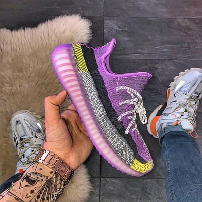 Кроссовки мужские Adidas Yeezy Boost 350 V2, фиолетового цвета, Адидас Изи Буст 350, кроссовки весна/осень