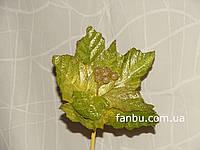 Зеленый декоративный цветок из плотной ткани с блестками (d=23 см)