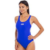 Купальник для плавания слитный женский MADWAVE AFRA M015921 размер S-L (RUS 44-48) (полиамид, эластан, синий)