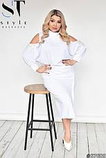 Костюм женский стильный нарядный с юбкой размеры:48-62, фото 3