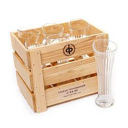"""Набор 6 бокалов пьяных для шампанского или вина высоких """"Пир"""" 200мл."""