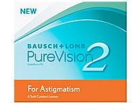Контактные линзы ежемесячной замены Pure Vision 2 toric