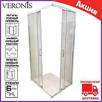 Душевая кабина прямоугольная 80х90 см Veronis Flex-7-14. Душевой уголок 90 на 80 см