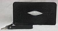 Женский кошелек на змейке из кожи ската.