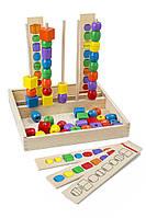 """MD570 Bead Sequencing Set (Развивающий набор деревянных бусин """"Последовательность и соответствие"""") Melissa & Doug"""