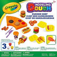 Набор для творчества тесто пластилин для лепки Крайола Бургер Шеф Crayola Modeling Dough Burger Chef Kit