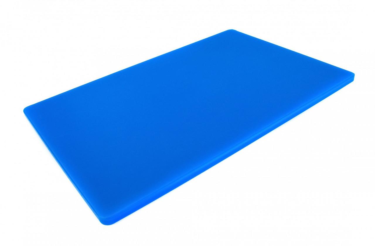 Двостороння дошка для LDPE, 600 × 400 × 13 мм, синя. Дошка для нарізки і обробки