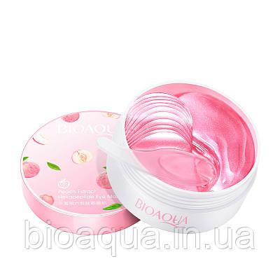 Патчи для глаз Bioaqua Peach Exstract с экстрактом персика (60 штук, 30 пар)